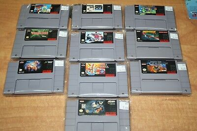 $ CDN74.99 • Buy Super Nintendo SNES 10 Video Games Lot *Cleaned & Tested* Fast Shipping