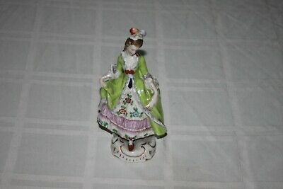 $ CDN44.83 • Buy Antique Sitzendorf Porcelain Lady Figurine Green Dress With Floral 6.5  Germany