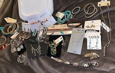 $ CDN85.68 • Buy Mixed Lot Of Vintage & New Costume Jewelry Necklaces Earrings Bracelets Rings