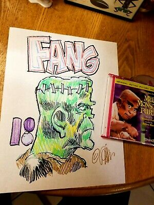 $29.99 • Buy RANKIN/BASS' Fang 8-1/2 X 11  Drawing From MAD MONSTER PARTY! + Free CD COOL!