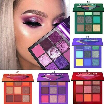 AU3.79 • Buy 9 Colors Eyeshadow Shimmer Pallete Faced Matte Makeup Eye Shadow Palette Kit Box