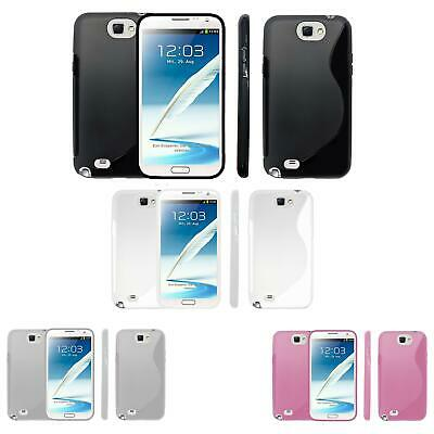 S-Gel Wave Tough Shockproof Phone Case Gel Cover Skin Samsung Galaxy NOTE 2 • 2.99£