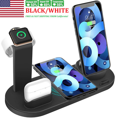AU23.78 • Buy 4 In 1 Wireless Charging Station Dock Charger Stand Apple Watch Air Pods IPhone