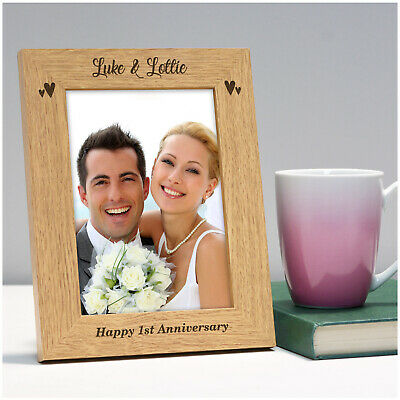 Personalised 1st 10th 25th 30th 40th 50th Wedding Anniversary Photo Frame Gifts • 10.95£
