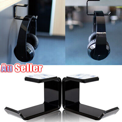 AU9.98 • Buy Headphone Stand Hanger Hook Mount Clever Dual Headset New Under Desk Tape Holder