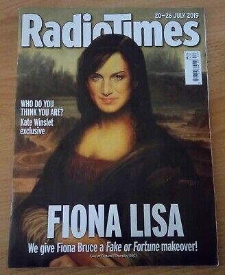£4.99 • Buy Radio Times - 20-26 July 2019 - Wales Edition - Fiona Bruce - Kate Winslet