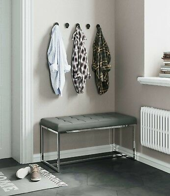 £99 • Buy New York Modern Cushioned Leather Dining Bench | Low Prices Dining Bench Deals