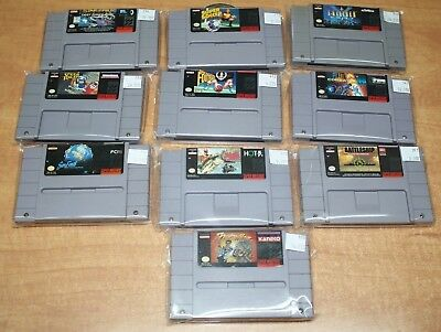 $ CDN92.99 • Buy Super Nintendo SNES 10 Video Games Lot *Cleaned & Tested* Fast Shipping