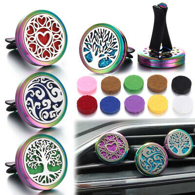 AU30.80 • Buy 5Pcs Car Air Vent Clip Freshener Stainless Essential Oil Diffuser Aromatherapy