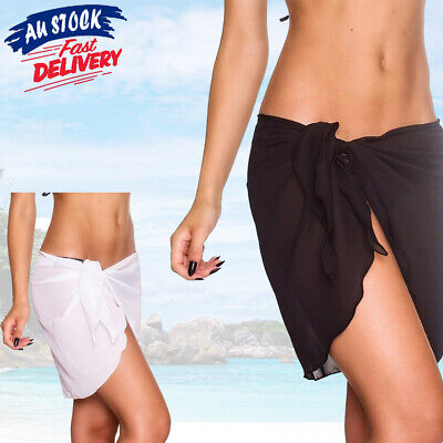 AU8.25 • Buy AU Women Wrap Short Skirt Beach Bikini Swim Pareo Sarong Up Beachwear Cover