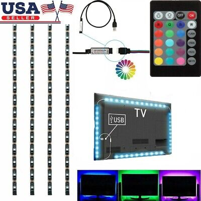$8.99 • Buy 1-4Pcs USB Powered RGB 5050 LED Strip Lighting For TV Computer Background Light