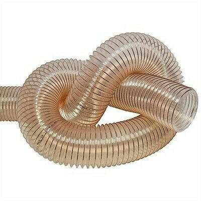 CLEAR FLEXIBLE DUST EXTRACTION HOSE 50mm 63, 80, 100, 125, 150, 160,180 Upto 400 • 8.95£