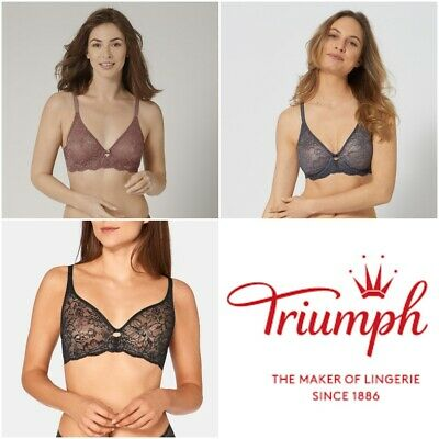 £29.95 • Buy Triumph Amourette Charm W02 Non Padded Underwired Lace Bra 10199586 RRP £40.00