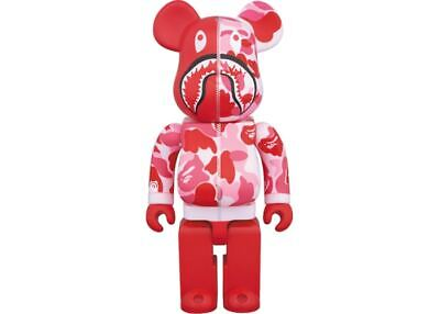 $950 • Buy Bearbrick X BAPE Camo Shark 400% Pink A Bathing Ape Kaws Supreme BOGO WGM