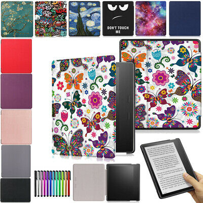 AU13.68 • Buy For Amazon Kindle Oasis 3 2019 E-reader Smart Case Hybrid Microfiber Cover