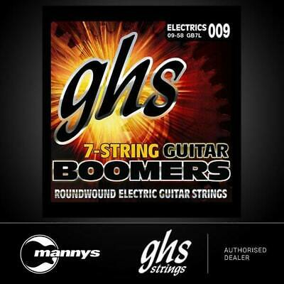 AU20 • Buy GHS Boomers GB7L 7-String Roundwound Electric Guitar Strings -Extra Light (9-58)