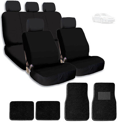 Black Gray Car Seat Front Semi-Custom Fabric to Jeep 8161