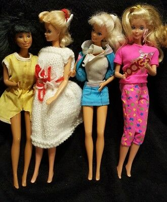 $ CDN15.99 • Buy Vintage Lot Of 4 Mattel Barbies 1966 (misc-4)