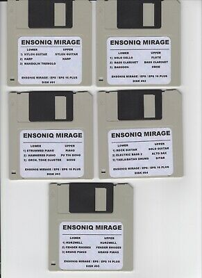 $60 • Buy Ensoniq Mirage New Disk Set #7 Mirage / Eps16+/ Complete Set