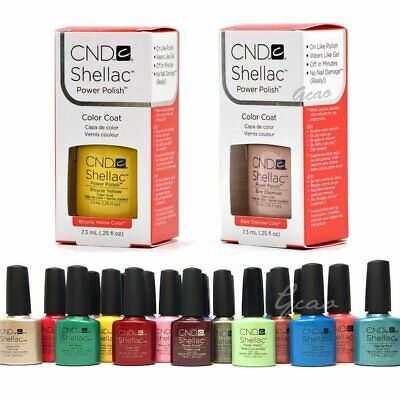 AU22.55 • Buy CND SHELLAC UV GEL COLOR Nail Polish Collection 1 Coat Pick Any Color