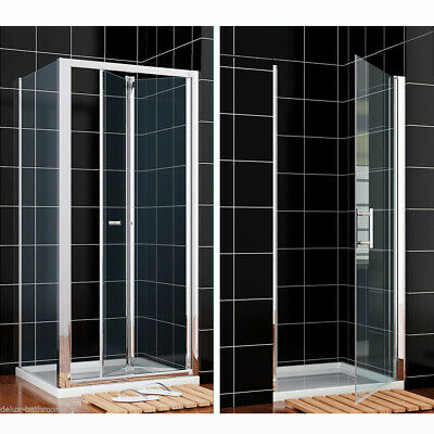 Bifold/Pivot Shower Enclosure And Tray Door Glass Screen Cubicle Side Panel • 182.99£