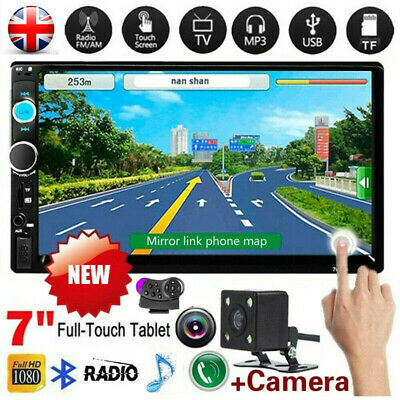 £45.99 • Buy Double 2 Din Car Stereo Radio 7  Bluetooth USB AUX TF IOS/Android MP5 Player