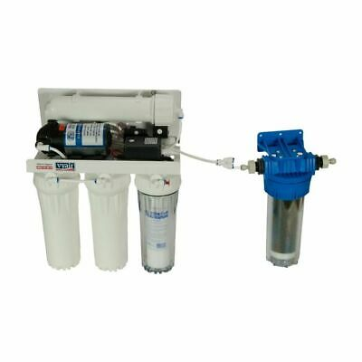 Dental 5-Stage Reverse Osmosis 50 GPD Pure Water Filter System Pumped RO-1 • 204.99£