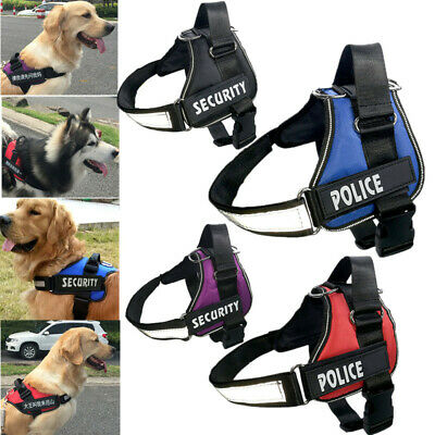 AU17.99 • Buy Adjustable Service Dog Vest Harness Patches Reflective Small Large Medium S-XL