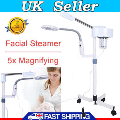 £95.03 • Buy Pro 2 In 1 Facial Steamer 3X Magnifying Lamp LED Ozone Machine Spa Salon Beauty