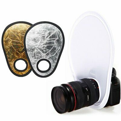 12  30cm Collapsible Photo Gold Silver Light Reflector + White Diffuser Portable • 6.92£