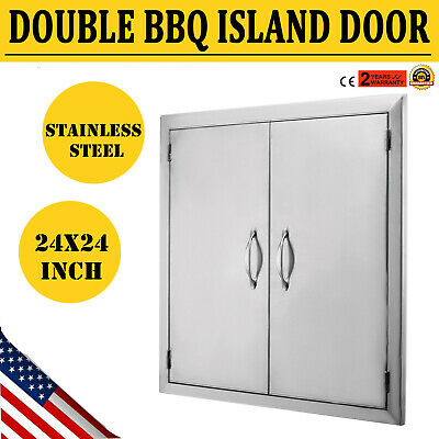 $70 • Buy 24 X24  Outdoor Kitchen Bbq Access Door  Double Walled Drawer Modern Frame Grill