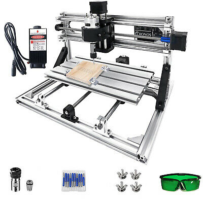 AU254.94 • Buy 3 Axis CNC Router Kit 3018 2500MW Milling Injection With Laser Engraver DIY