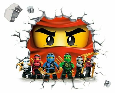Lego Ninja Design Wall Decal 3D Art Stickers Vinyl Room Home Bedroom Gift • 8.99£