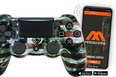 AU150.74 • Buy Smoking American Flag PS4 SMART Custom Rapid Fire Modded Controller Mods For COD