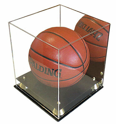 Deluxe PRO UV Protected Full Size Basketball Display Case Stand W/ Mirror Back • 54.95$