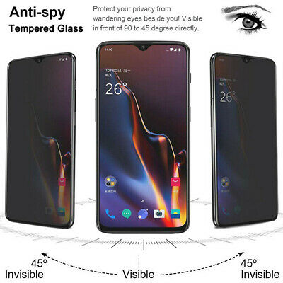 AU5.20 • Buy For OnePlus 7 Pro 3D Cover Privacy Anti-Spy Tempered Glass Screen Protector Film