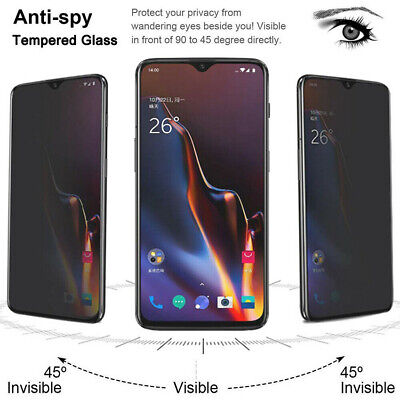 AU5.55 • Buy For OnePlus 7 Pro 6 6T 3D Privacy Anti-Spy Tempered Glass Full Screen Protector