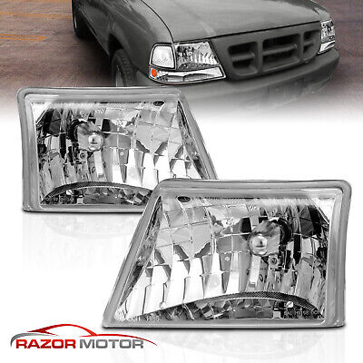 $78.62 • Buy 1998 1999 2000 Ford Ranger Chrome Factory Style Headlights Head Lamps Set