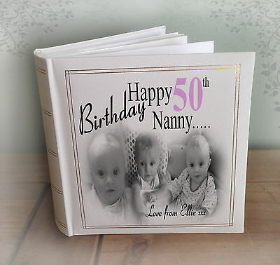 Personalised Large Luxury Photo Album, 50th Birthday Or Any Age??, Gift Present • 27.99£