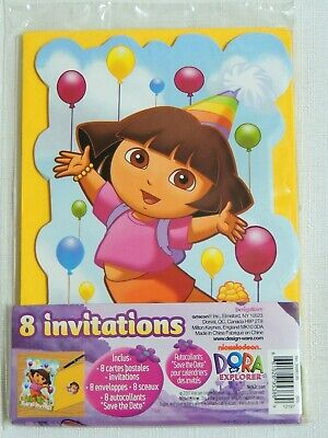 Dora The Explorer  -8 Invitations With Envelopes -party Supplies • 1.91£