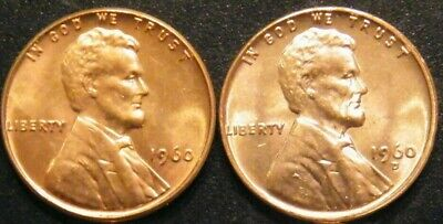 $7.49 • Buy 1960 PD Small Date Lincoln Memorial Pennies Cents In US Coin BU Uncirculated
