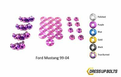$164.99 • Buy Dress Up Bolts For Mustang GT 1999-04 Cobra 03-04 Titanium Engine Bay Kit Purple