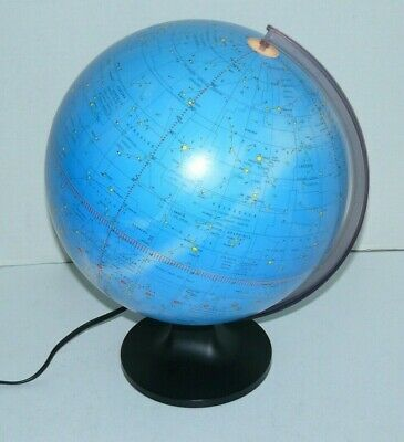 """Lighted Celestial Scan Globe Constellations 12"""" Excellent Condition! • 69.99$"""