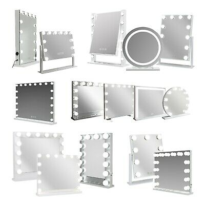 Hollywood Mirror Vanity With LED Light Up Globe Lights - Makeup Bedroom Table • 104.99£