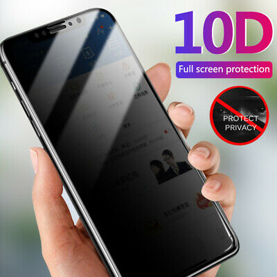 AU5.41 • Buy 10D For Samsung S21 A32 A52 A51 A71 Privacy Anti-Spy Full Glass Screen Protector