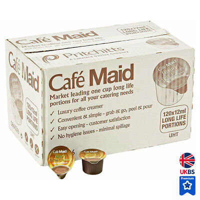 £9.39 • Buy 120 Cafe Maid Coffee Creamer Individual Portions Jiggers Pots Great BBE Dates