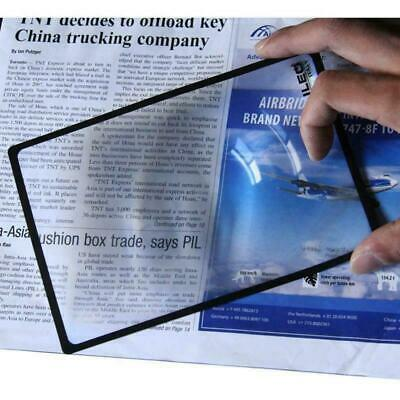 £3.99 • Buy A5 Magnifier Sheet 18x12cm Page Magnifying Glass Reading Aid Lens