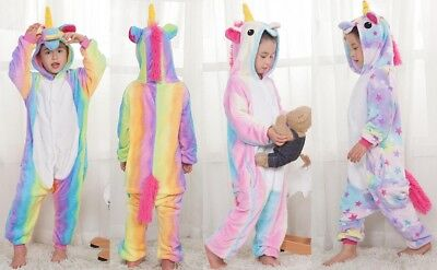 AU25.98 • Buy Kids Cute Animal Unicorn Onesie11 Plush Pajama Kigurumi Costume Cosplay Party