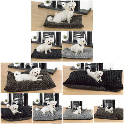 Rose Fur Fleece Dog Beds In 3 Sizes & 3 Colours Cushion Ideal For Kennel & Cage  • 14.99£