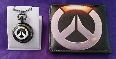AU35.05 • Buy OVERWATCH Pocket Watch Wallet Reaper Shooter Game Play Online Comic Glass 2 PCS